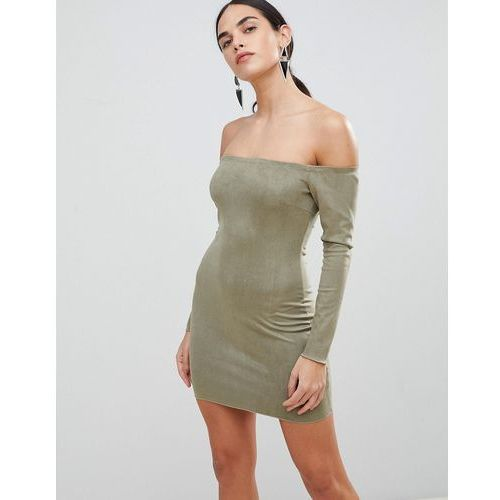 AX Paris Bodycon Bardot Dress - Green