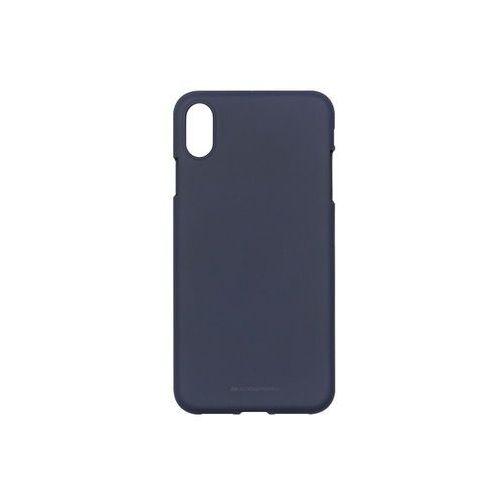 Apple iPhone XS Max - Mercury Goospery Soft Feeling - granatowy, ETAP783GMSFDBL000