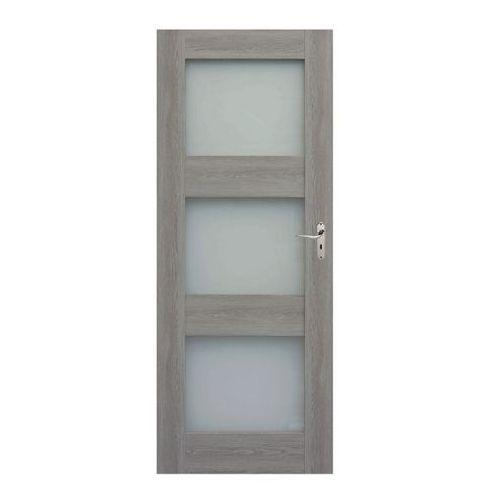 Drzwi pokojowe Tre 90 lewe dąb szary