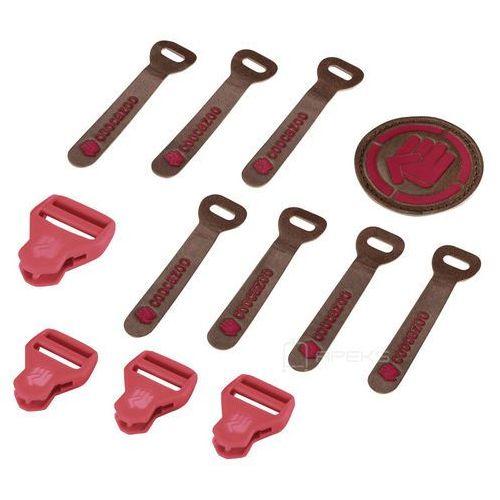 matchpatch leather hibiscus melange zestaw elementów wymiennych - czerwony ||brązowy marki Coocazoo