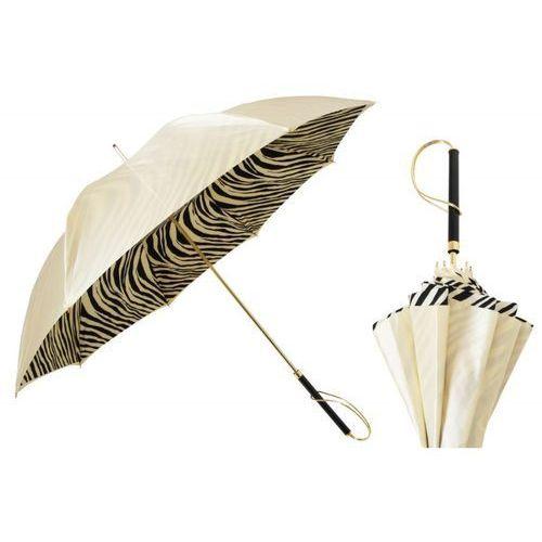 Parasol ivory with zebrine interior, podwójny materiał, 189 21028-55 s marki Pasotti