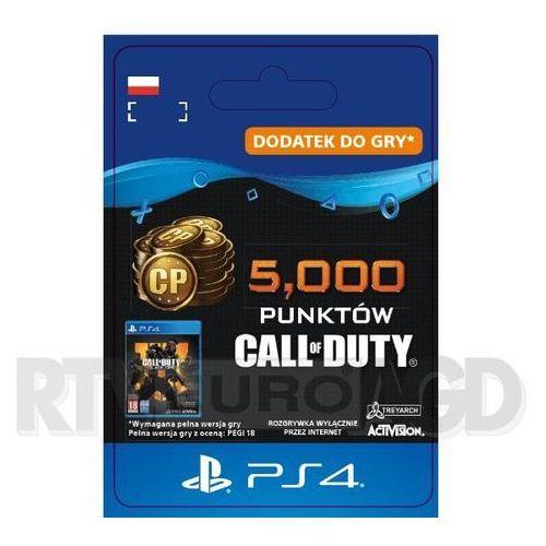 Call of duty: black ops iv - 5000 punktów [kod aktywacyjny] ps4 marki Sony