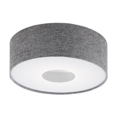 Eglo Plafon romao 95345 lampa oprawa sufitowa z abażurem 1x15,5w led szary