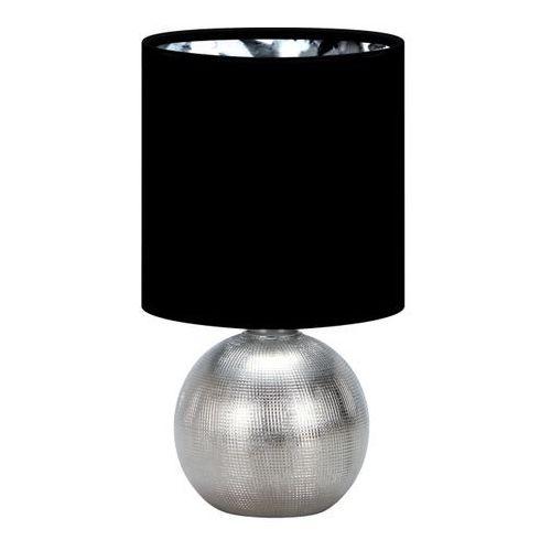 Lampka stołowa PERLO E14 SILVER/BLACK (5901477332906)