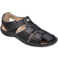 Półbuty Sandały KRISBUT 1108A-1-1 Czarne - Czarny, kolor czarny