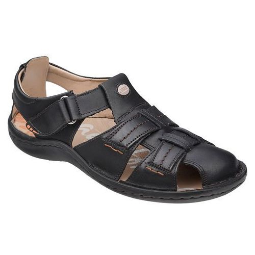 Półbuty sandały 1108a-1-1 czarne - czarny, Krisbut
