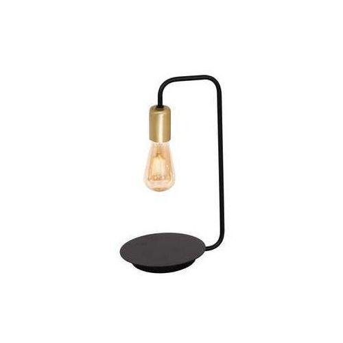 Luminex Brenda 1063 lampa stołowa lampka 1x60W E27 czarny złoty (5907565910636)