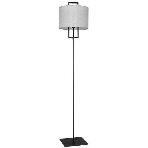 Lampa podłogowa abażurowa z drewnianymi elementami Aldex Sprite 1x60W E27 szary 905A17