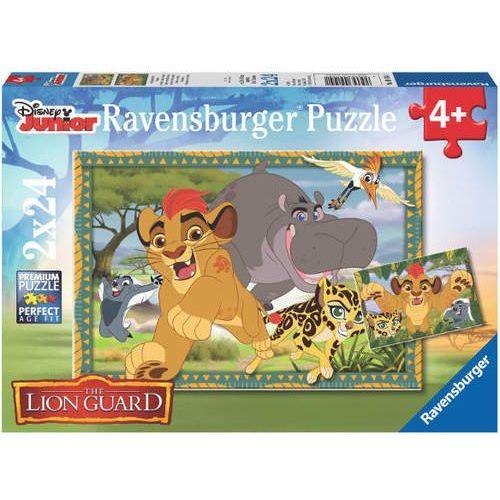 puzzle 2x 24 elementy - disney junior lion guard: przygoda na sawanie marki Ravensburger