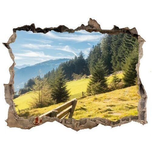 Dziura 3d w ścianie naklejka Jesień w górach