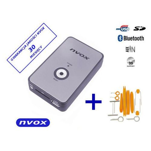 NVOX NV1080B BT VW 8PIN Zmieniarka cyfrowa emulator MP3 USB SD VW AUDI 8PIN BT (5901867720221)