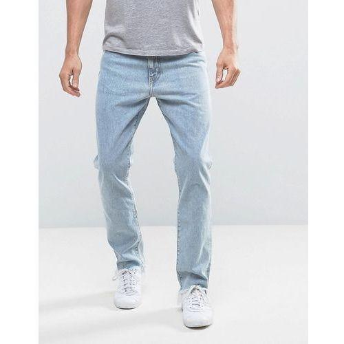 sharp slim rigid fit jeans lagoon blue wash - blue marki Weekday