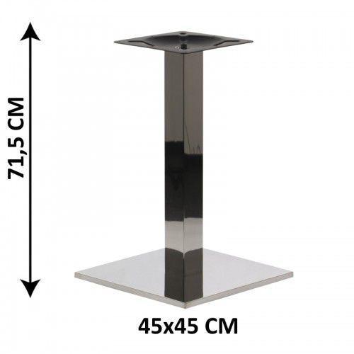 Podstawa stolika SH-2002-1/P/8, 45x45 cm, stal nierdzewna polerowana, obciążnik z tworzywa sztucznego, (stelaż stolika), SH-2002-1/P/8