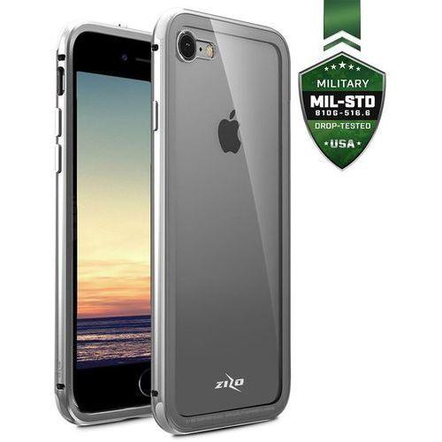 atom case etui aluminiowe iphone 8 / 7 (silver) + szkło hartowane na ekran marki Zizo