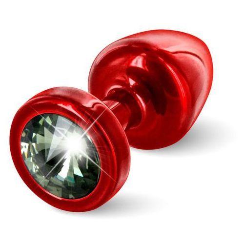 Diogol Plug analny ozdobny - anni butt plug 25mm okrągły czerwony z czarnym