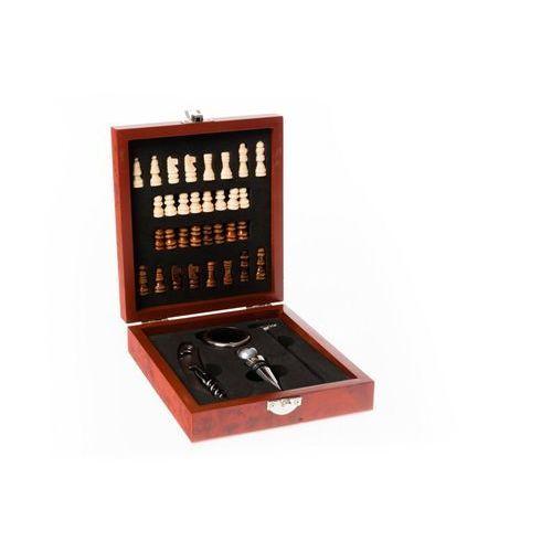 Skrzynka na akcesoria do wina + szachy na prezent marki Home