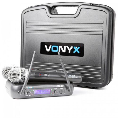 Vonyx WM73 bezprzewodowy 2-kanałowy system radiowy UKF (8715693274790)