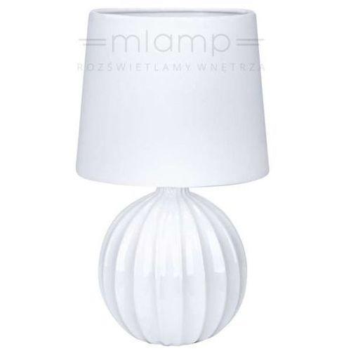 Ceramiczna LAMPA stołowa MELANIE 106884 Markslojd abażurowa LAMPKA biurowa biała