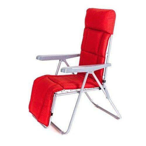 Happy green krzesło ogrodowe składane manilla 74 x 57 x 106 cm, z oparciem na nogi, czerwone
