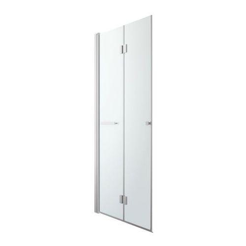 Goodhome Drzwi prysznicowe składane beloya 90 cm chrom/transparentne