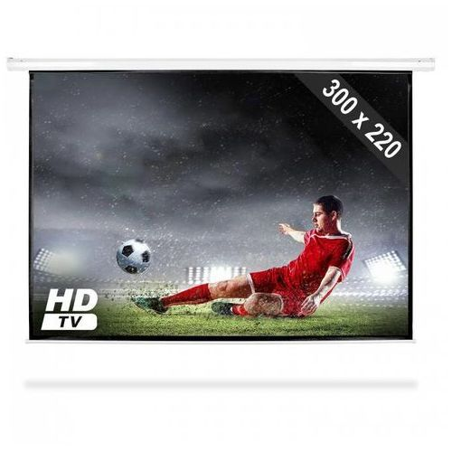 elektryczny ekran projekcyjny rozwijany, 300 x 220 cm, kino domowe, hdtv, 4:3 marki Frontstage