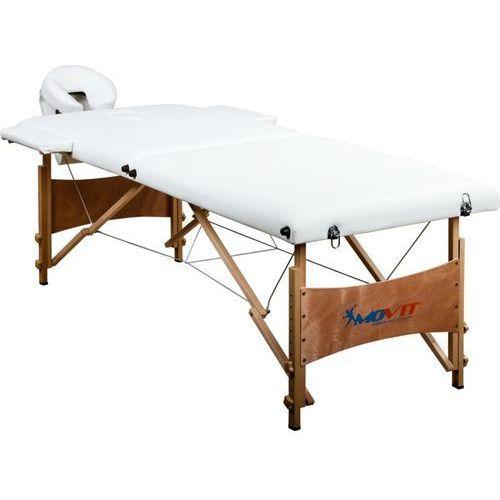 Movit ® Movit białe markowe łóżko do masażu + torba stół - biały