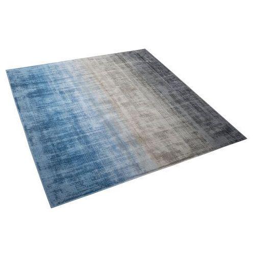 Beliani Dywan szaro-niebieski 200 x 200 cm krótkowłosy ercis