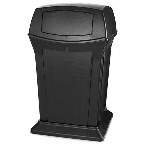 Pojemnik na odpady (pe), ogniotrwały, poj. 170 l, czarny. z bardzo trwałego twor marki Rubbermaid