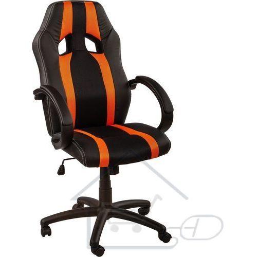 1 Fotel obrotowy dla gracza, racemaster, w pomarańczowy pasy