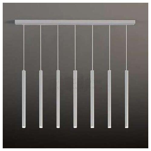 Shilo Lampa wisząca yabu 7576 metalowa oprawa zwis listwa sufitowa sople tuby białe (5903689975766)