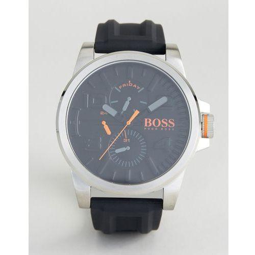 Boss orange  by hugo boss detroit sport rubber watch in black 1550006 - black