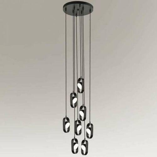 Industrialna LAMPA wisząca FUROKU 7952 Shilo regulowana OPRAWA metalowe reflektorki LED 36W zwis czarne (1000000609448)