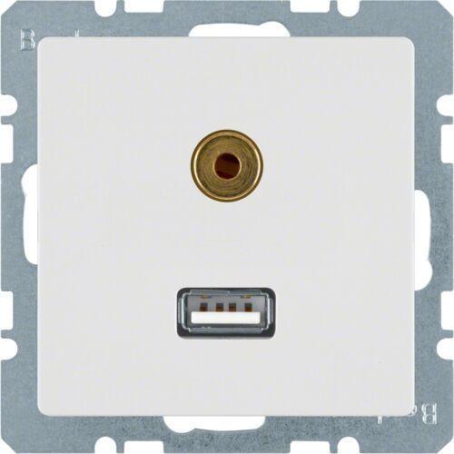Berker q.1 / q.3 gniazdo usb / 3,5 mm audio
