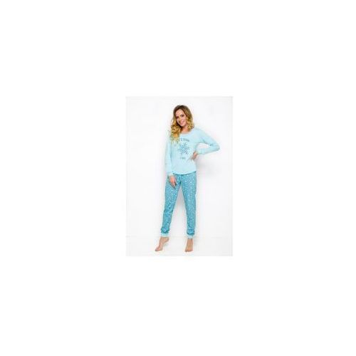 Piżama damska TARO Nora 2124 niebieska, Nora 2124