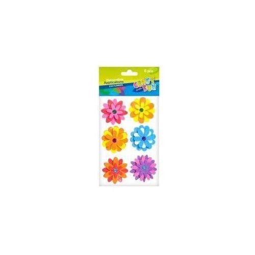 Ozdoba dekoracyjna samoprzylepna pianka kwiaty 6el