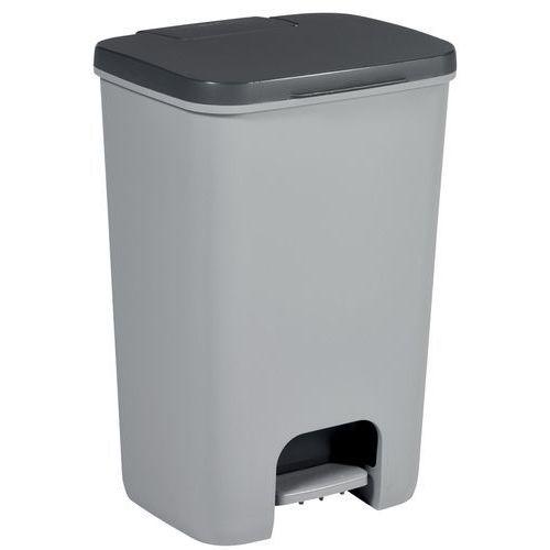 Kosz na śmieci Curver ESSENTIALS 40L Antracyt/szary - 225359 (3253920760005)