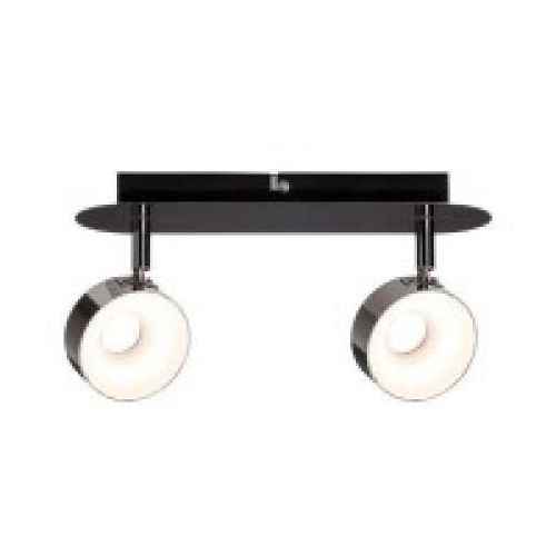 2-lampowy reflektor led funnel 2x6w z funkcją ściemniania czarny chrom / chrom, 66729 marki Paulmann