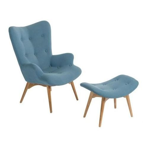 D2design Fotel z podnóżkiem contour (niebieski) d2