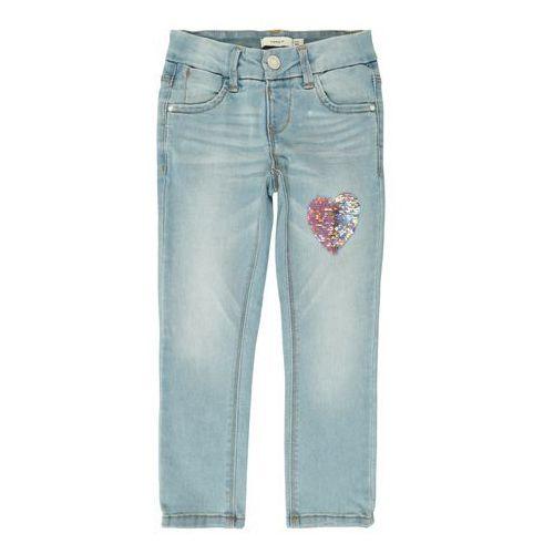 Name it jeansy 'salli dnm tonja 1164' niebieski denim / różowy pudrowy