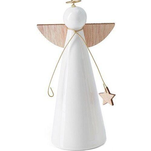 Aniołek bożonarodzeniowy porcelanowy hilda 12 cm (p132008) marki Philippi