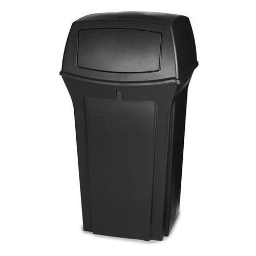 Pojemnik na odpady (pe), ogniotrwały, poj. 133 l, czarny. z bardzo trwałego twor marki Rubbermaid