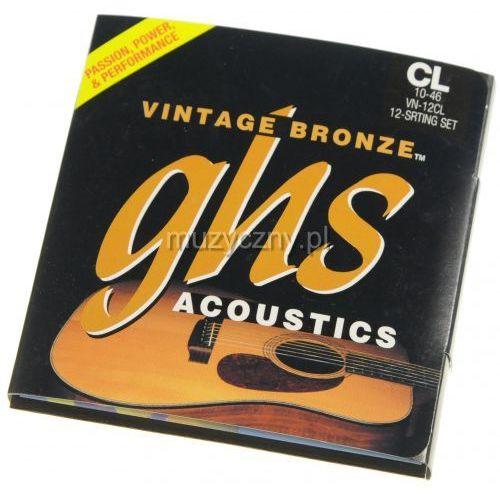 GHS Vintage Bronze 12CL struny do gitary akustycznej dwunastostrunowej 10-46