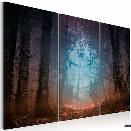 SELSEY Obraz - Edge of the forest - triptych 120x80 cm