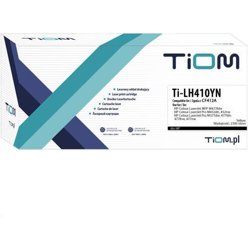 Toner Tiom do HP Color LaserJet M377 M477/M452 yellow 410A 2,3k, Ti-LH410YN