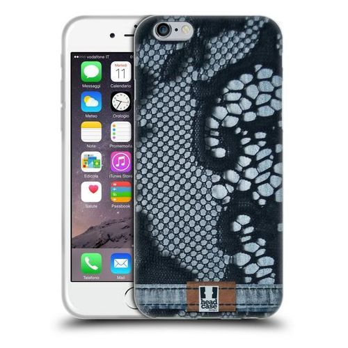 Etui silikonowe na telefon - jeans and laces blue lace over light denim marki Head case