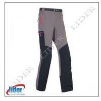 Spodnie trekkingowe męskie MILO VINO - grey / black, kolor czarny