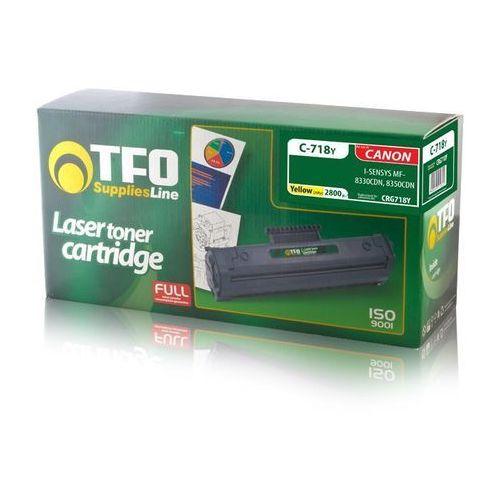 TF1 Toner TFO C-718Y (CRG718Y, Ye) (T0004926) Darmowy odbiór w 21 miastach! (5900495179821)