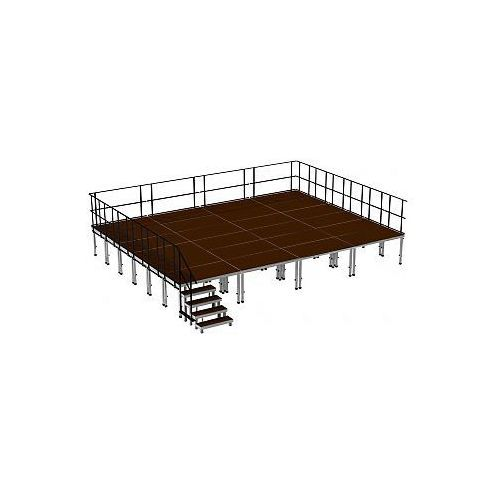 2m ERGOtrend OUT 8x6 - Stage Platform Set Outdoor 8 x 6 m, podest sceniczny