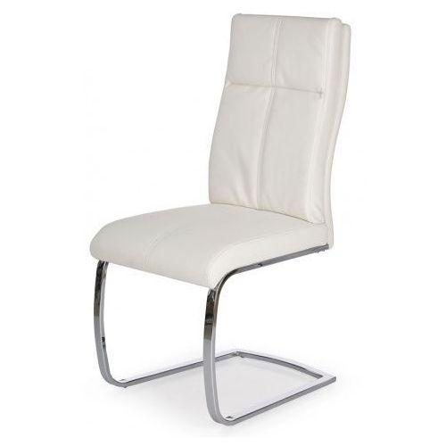 Tapicerowane krzesło Gerdan - białe
