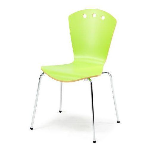 Krzesło do stołówki ORLANDO, zielony, chrom, 136896